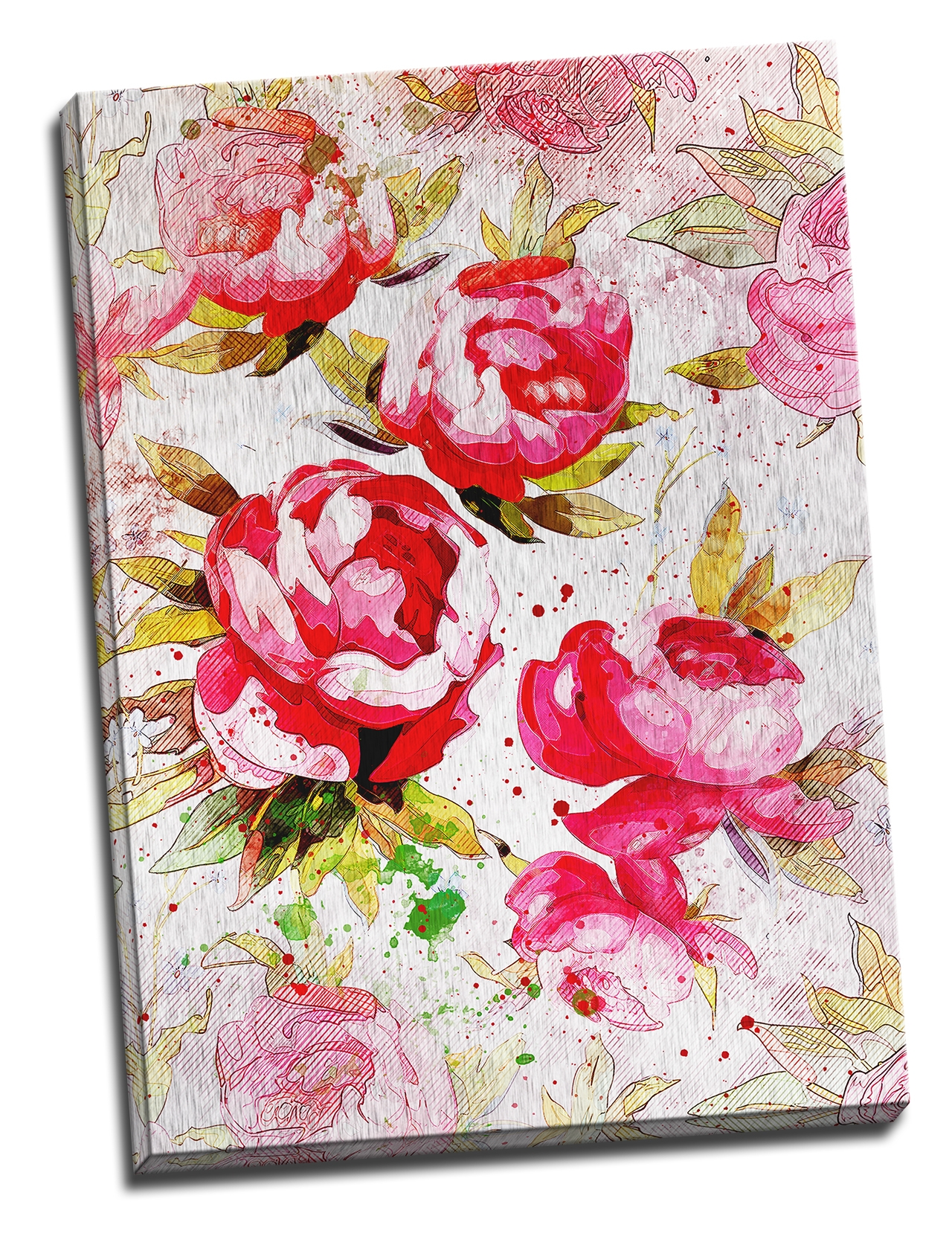 Tablou din aluminiu striat English Roses