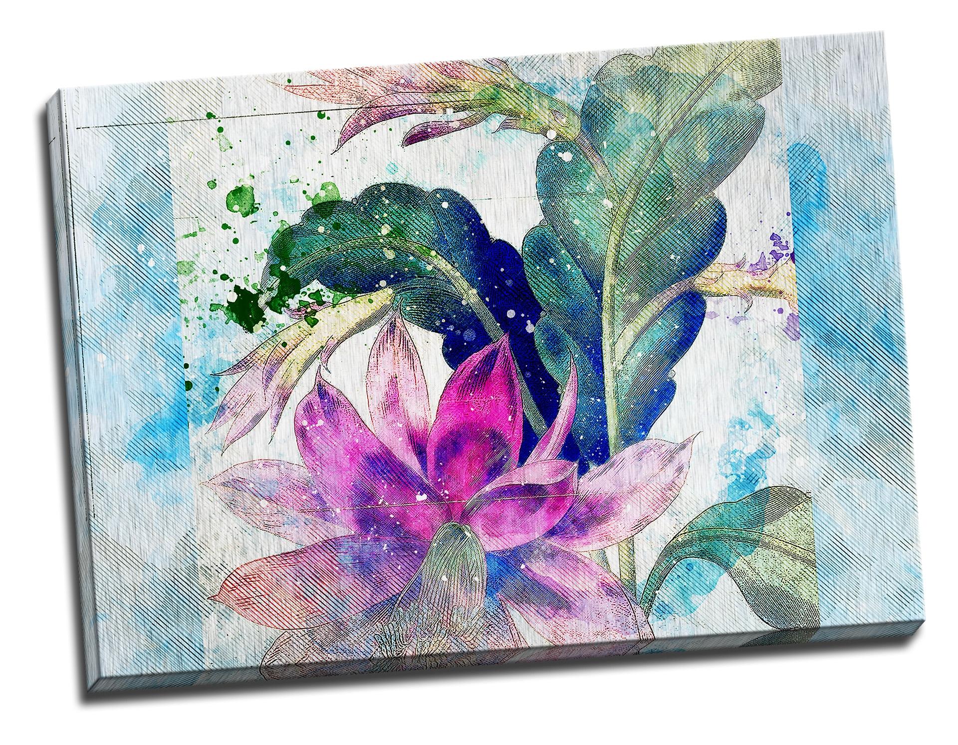 Tablou din aluminiu striat Floral Emotion