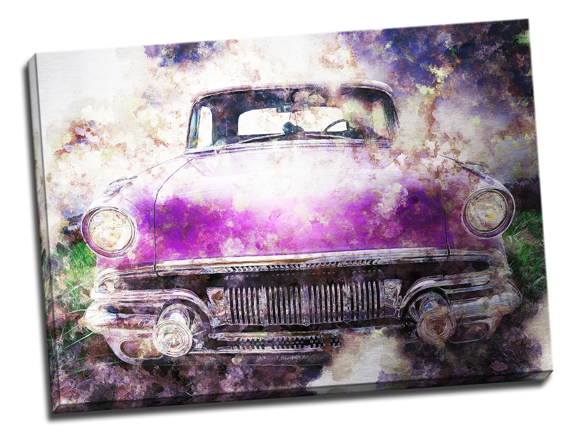 Tablou din aluminiu striat Purple Ride