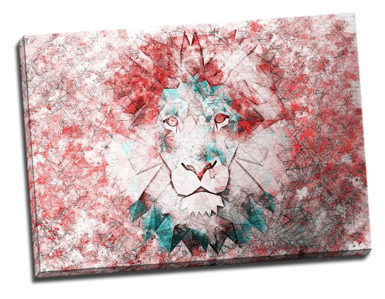 Tablou din aluminiu striat Red Lion