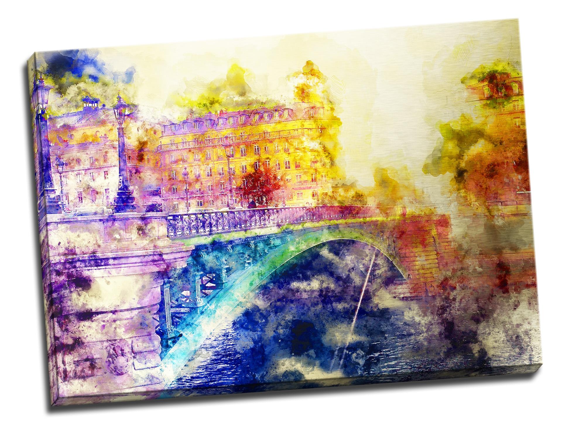 Tablou din aluminiu striat See You in Paris