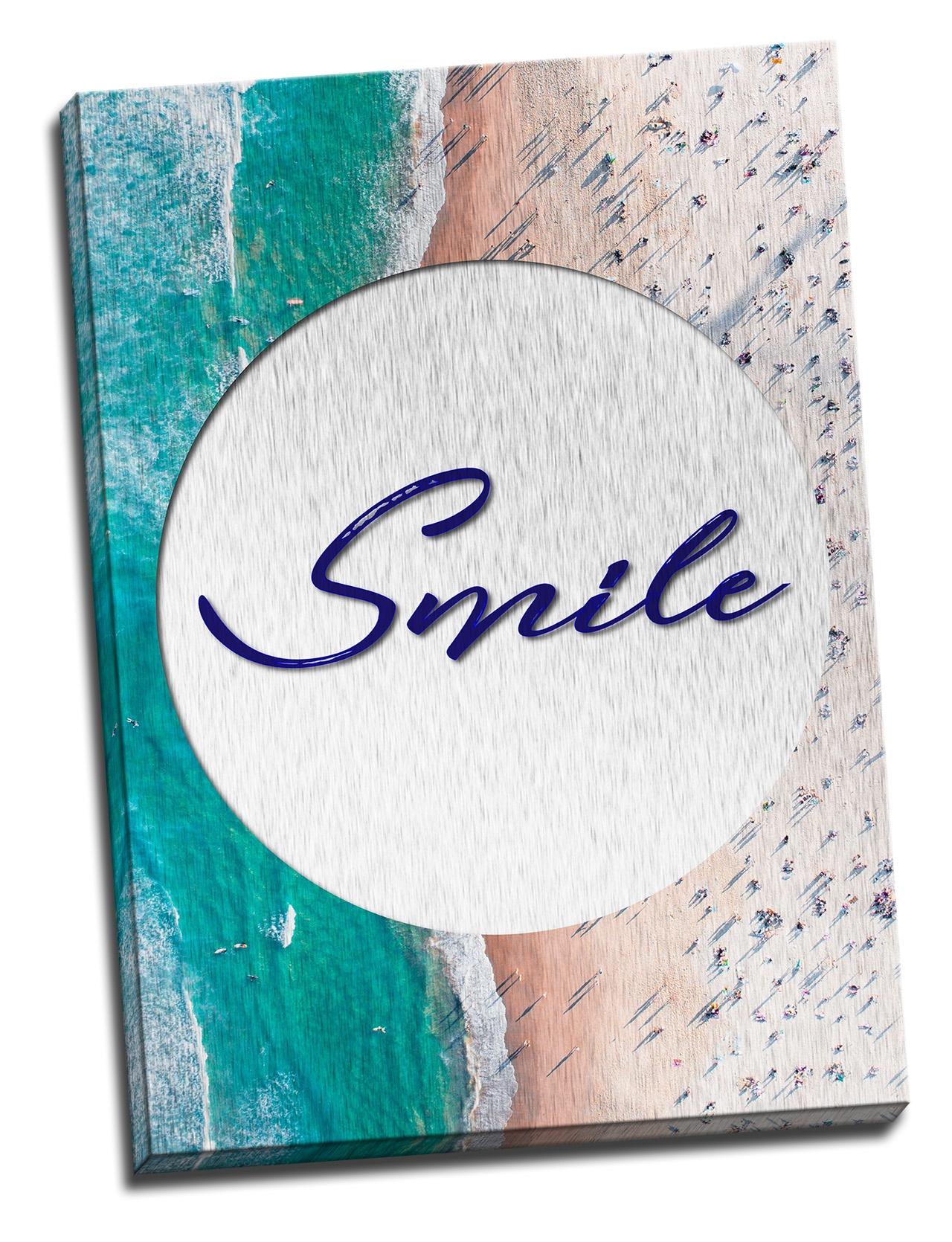 Tablou din aluminiu striat Smile