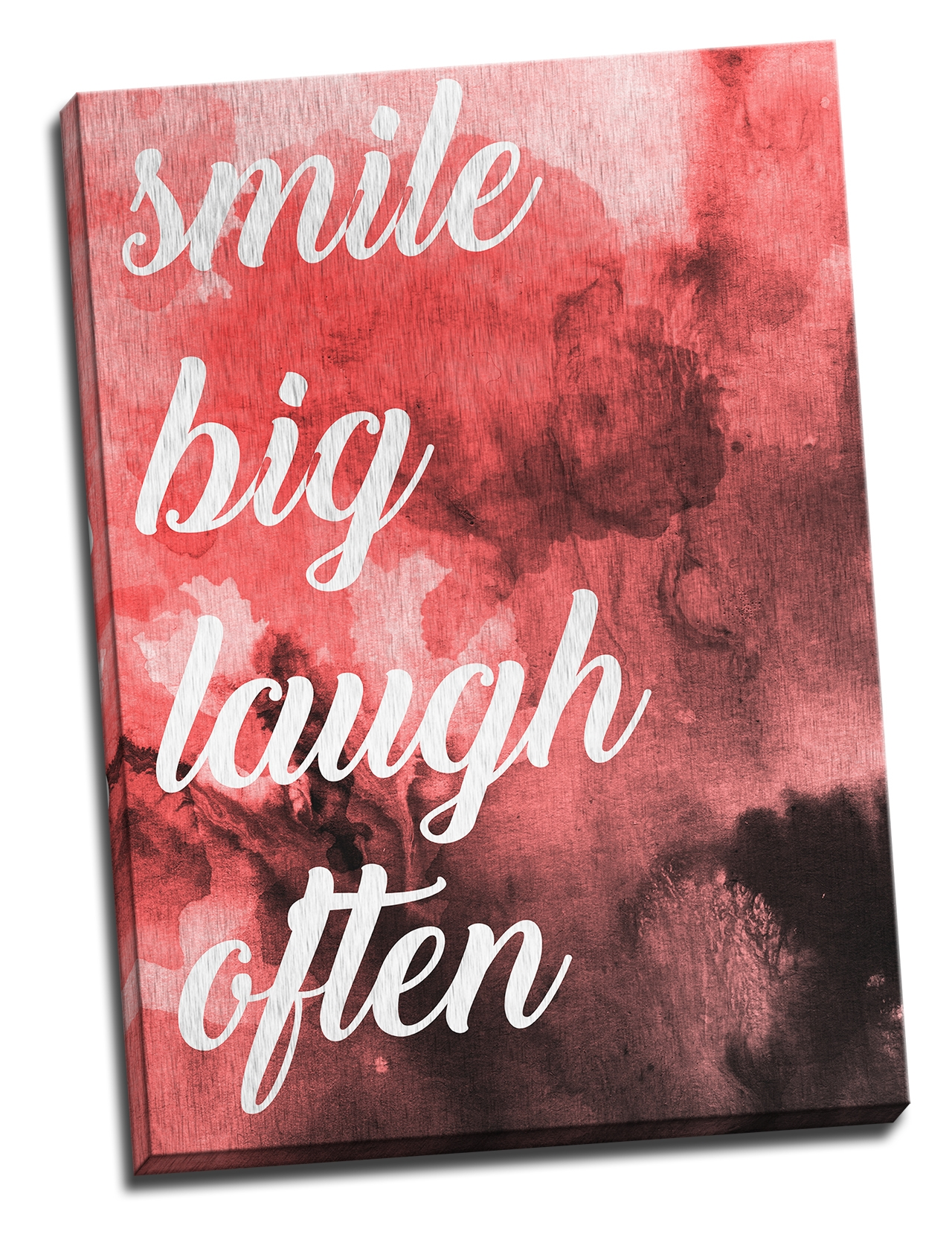 Tablou din aluminiu striat Smile Big Laugh Often