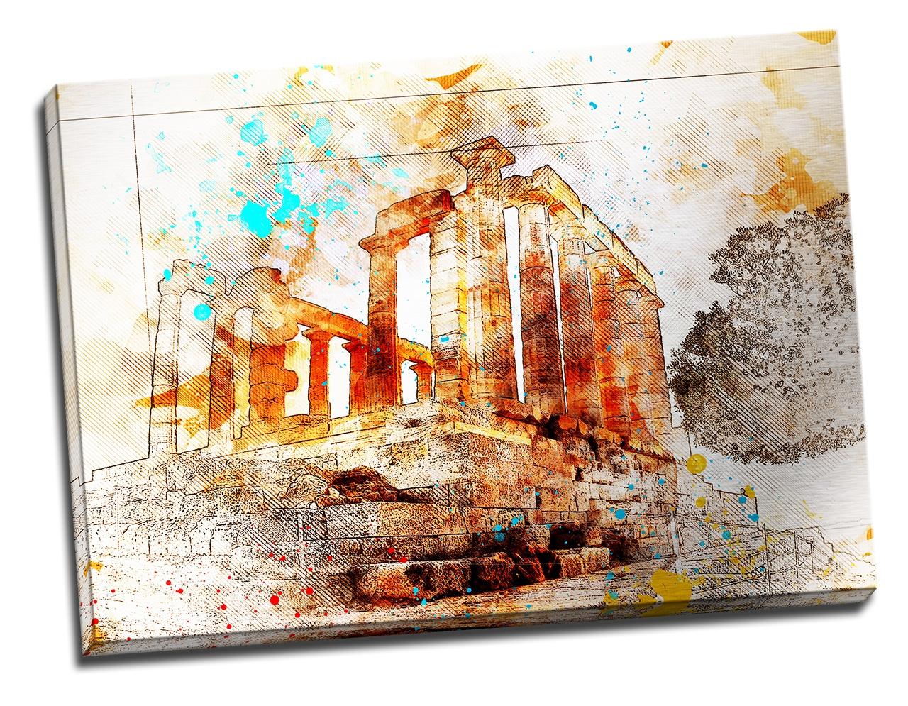Tablou din aluminiu striat Temple of Poseidon