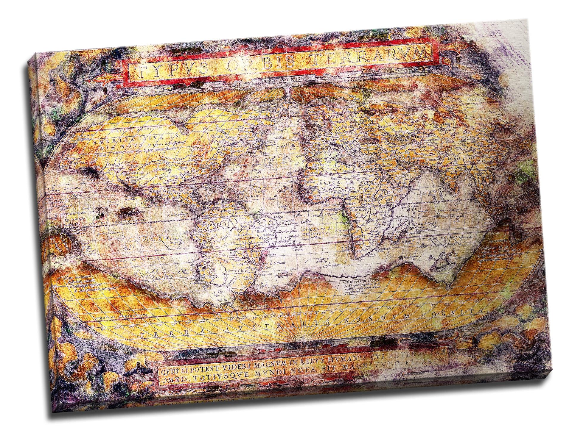 Tablou din aluminiu striat That Old Map