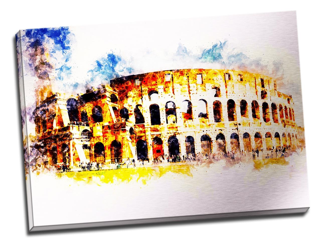 Tablou din aluminiu striat The Colosseum