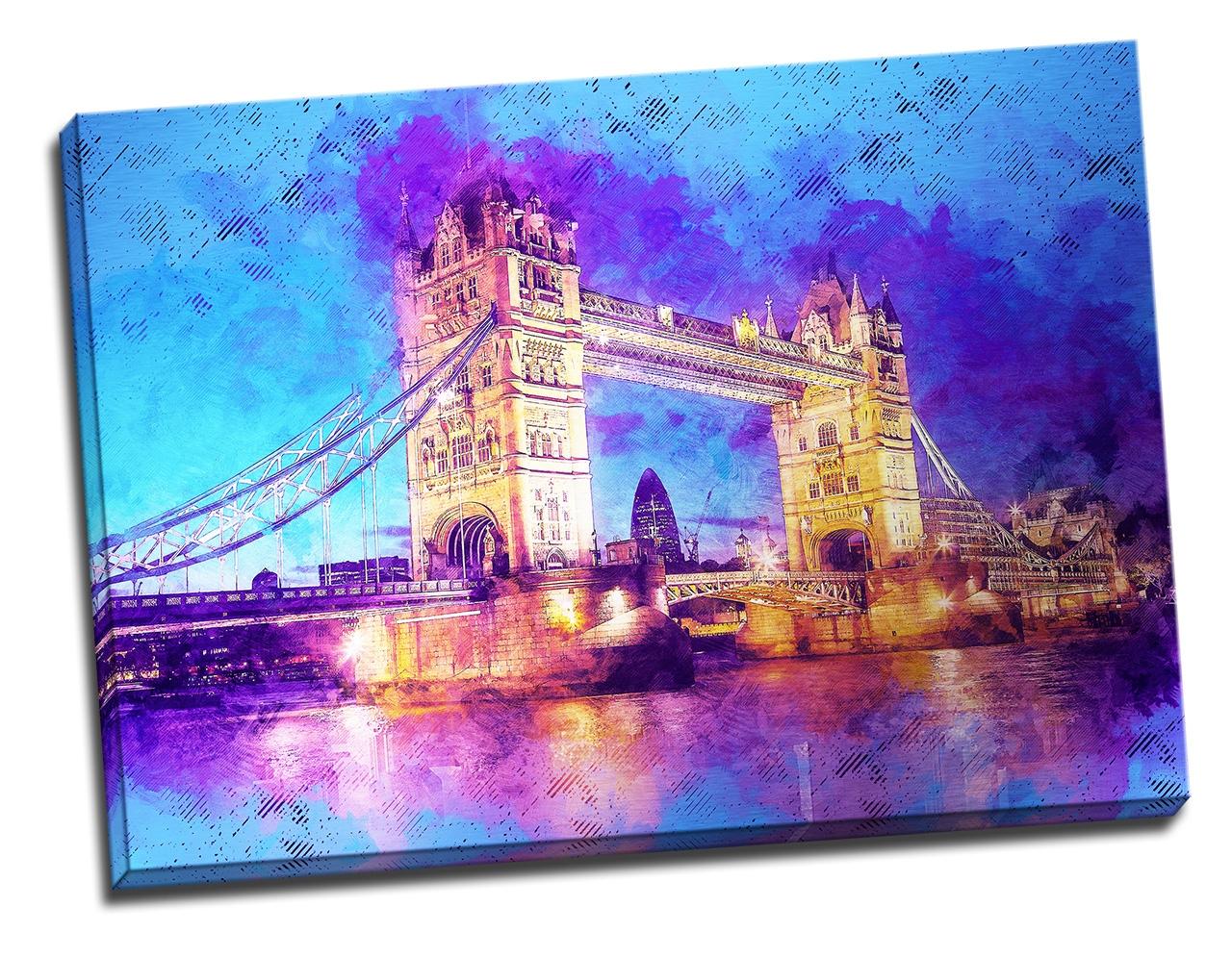 Tablou din aluminiu striat The Tower Bridge