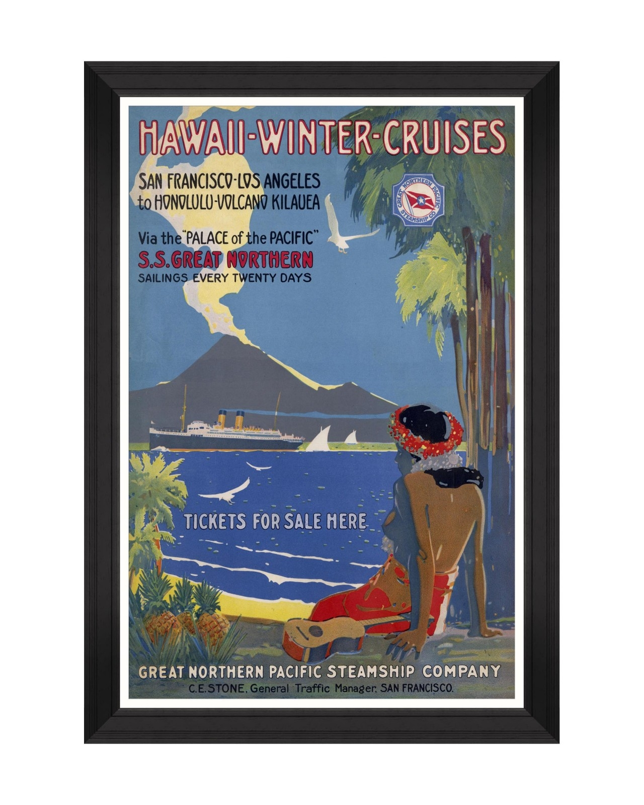 Tablou Framed Art Caribbean Travels - Hawaii Winter Cruises, 60 x 90 cm imagine