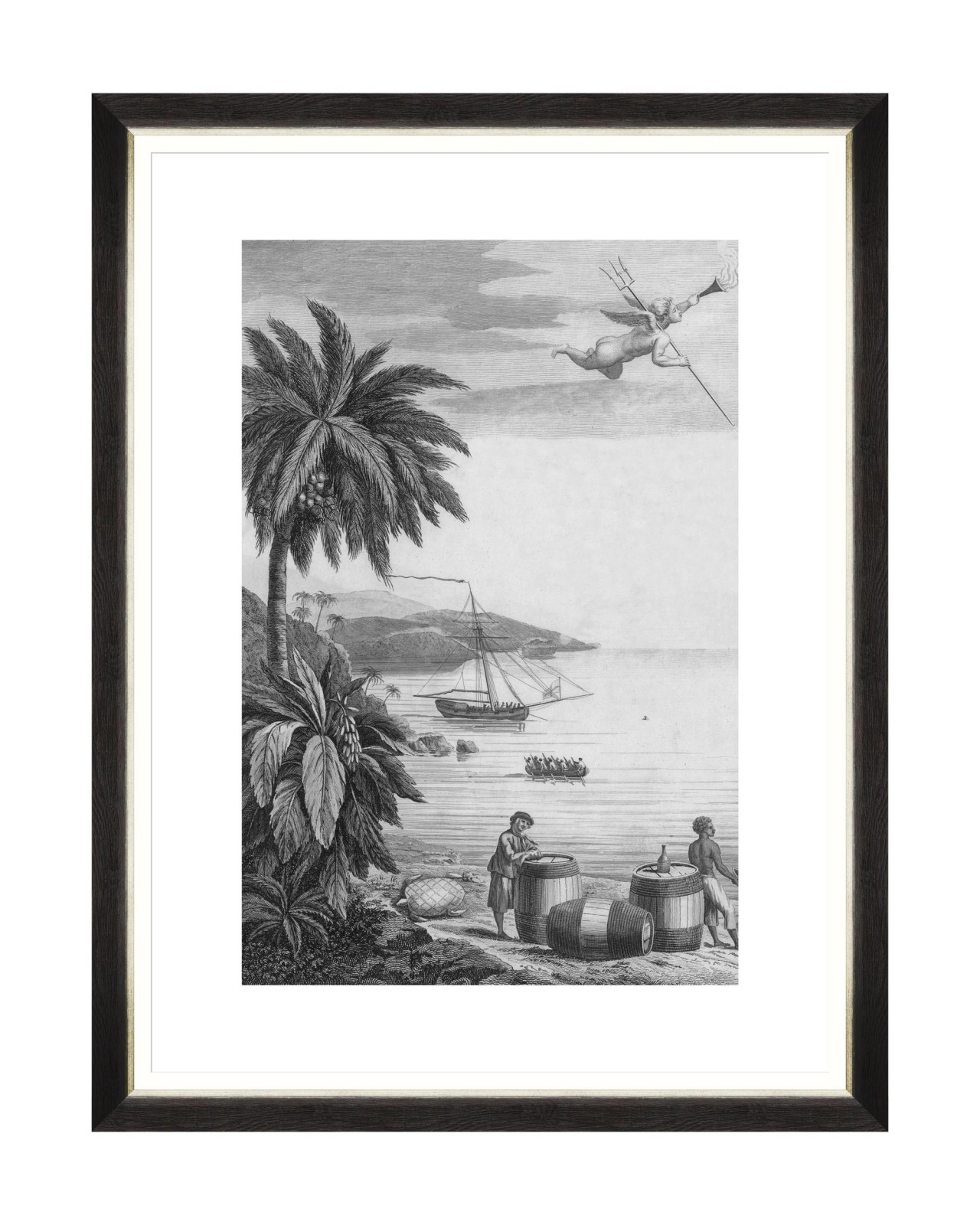 Tablou Framed Art Colonial Port I, 60 x 80 cm