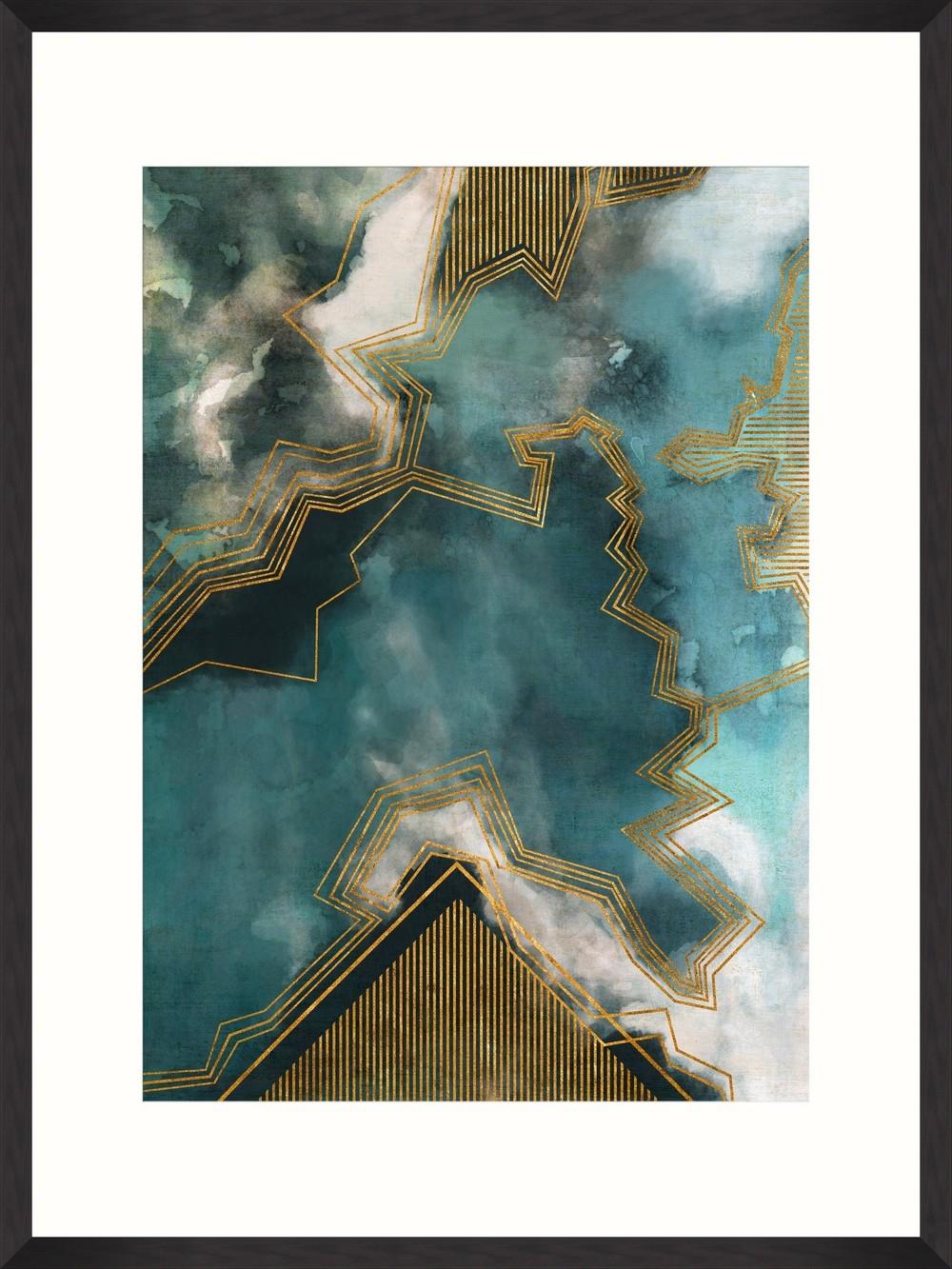 Tablou Framed Art Gold Thunders II