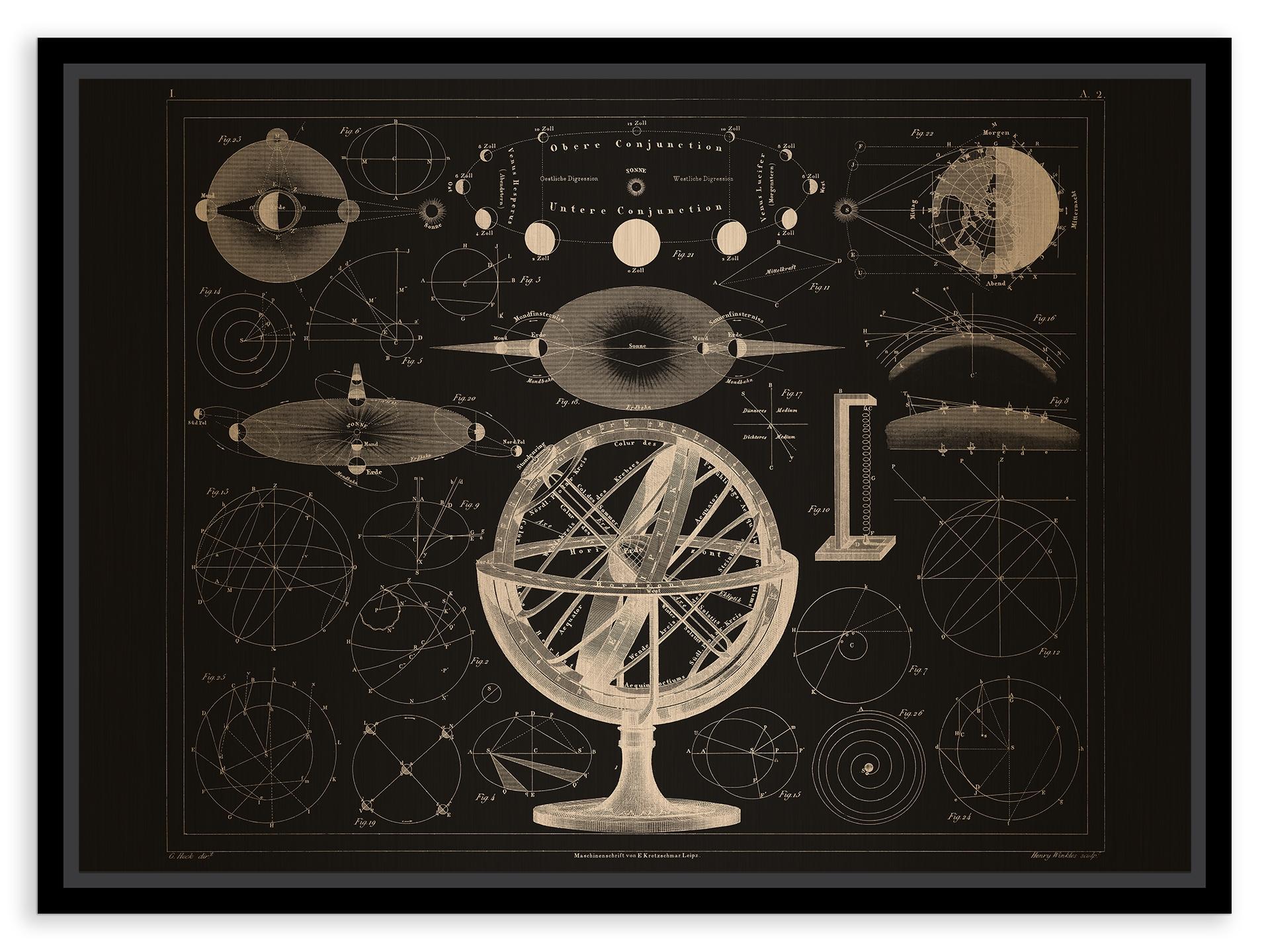 Tablou pe metal striat aramiu Bolder-Atlas by Brockhaus