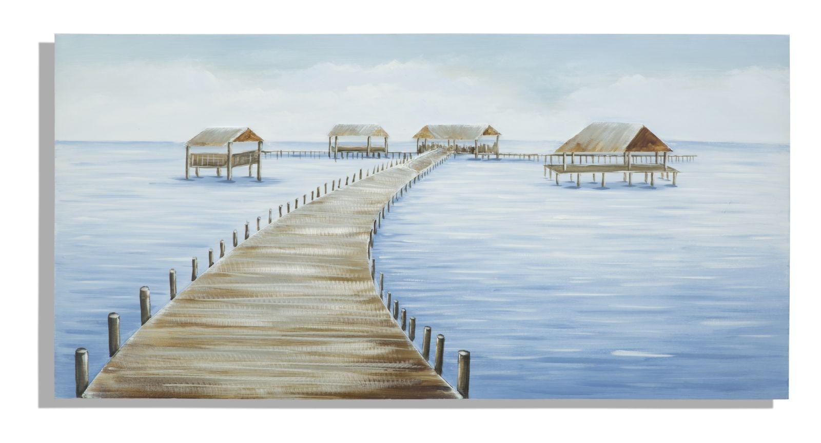Tablou pictat manual Fiji, 70×140 cm