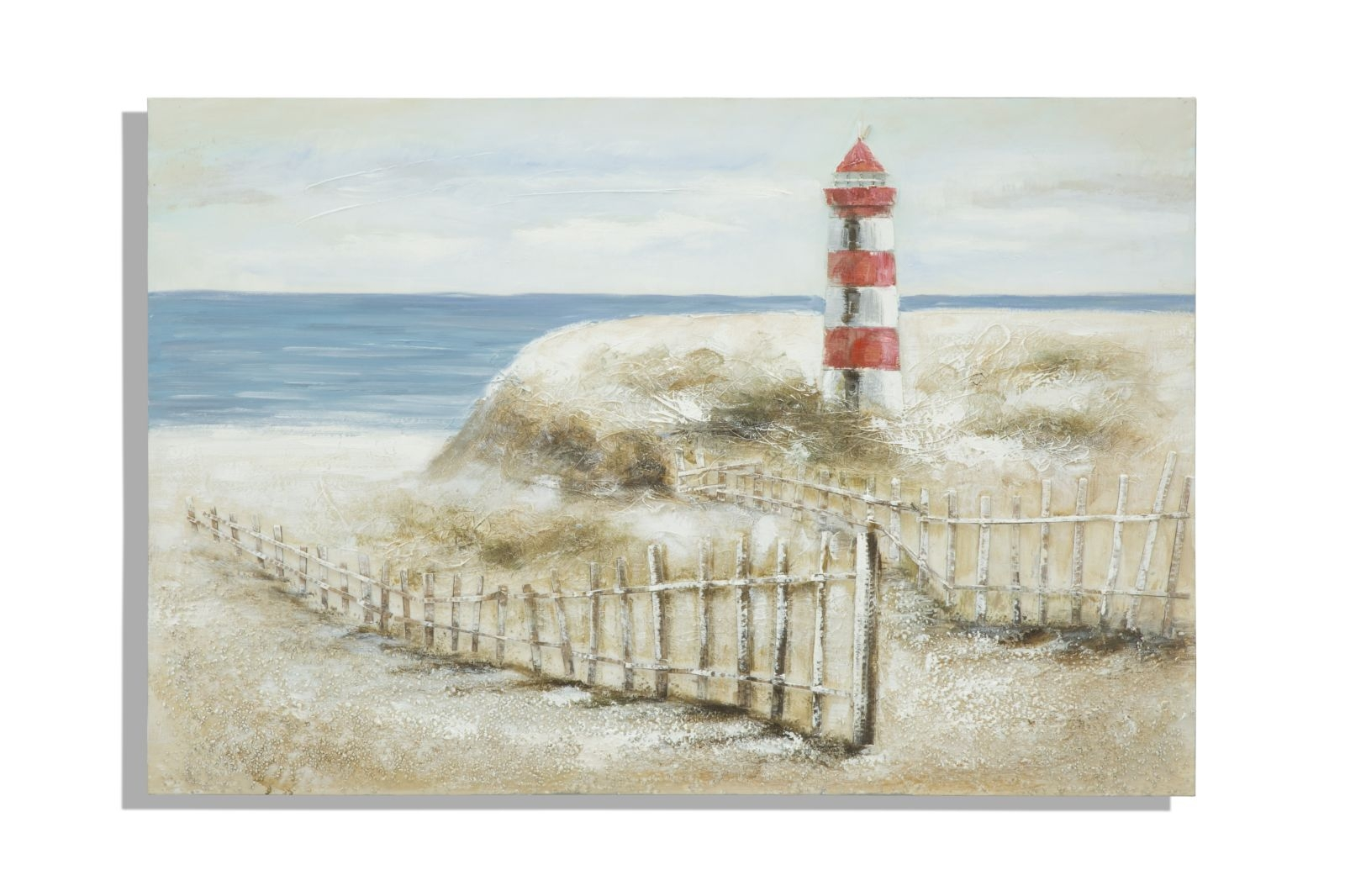 Tablou pictat manual Light House, 80×120 cm