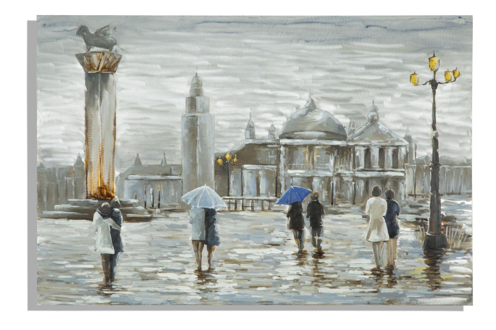 Tablou pictat manual Old City, 120×80 cm