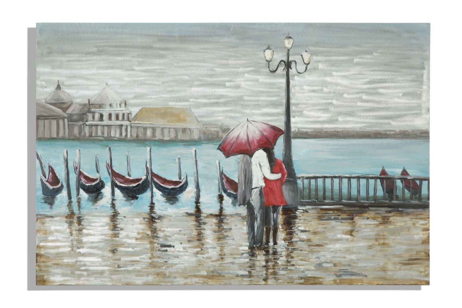 Tablou pictat manual Venice, 120×80 cm
