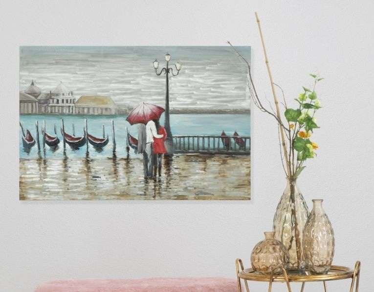 Tablou pictat manual Venice, 120x80 cm somproduct.ro