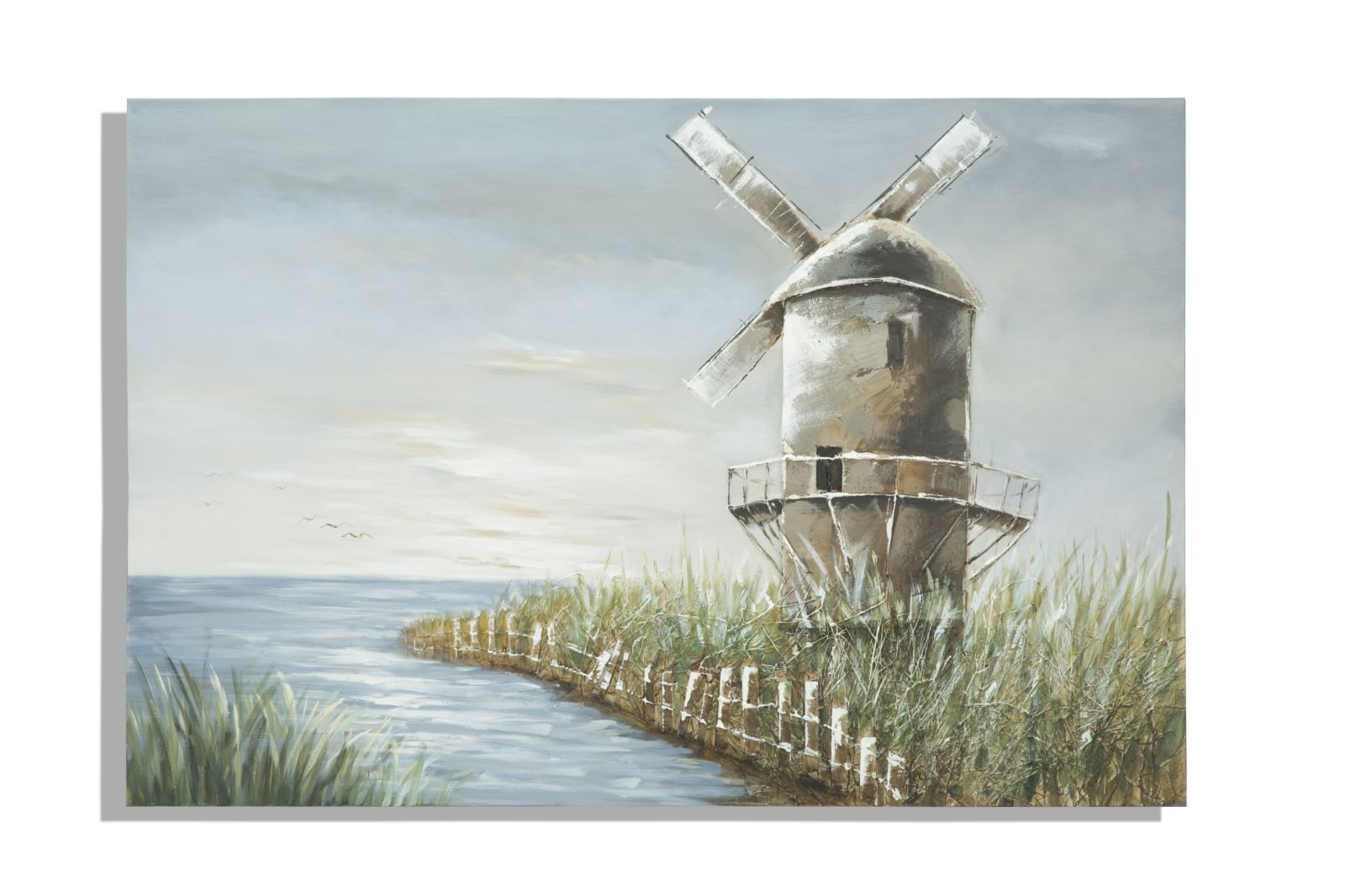 Tablou pictat manual Windmill, 80x120 cm