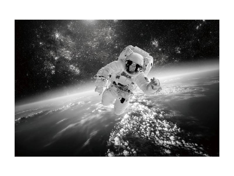 Tablou Sticla Cosmonaut, 120 x 80 cm imagine