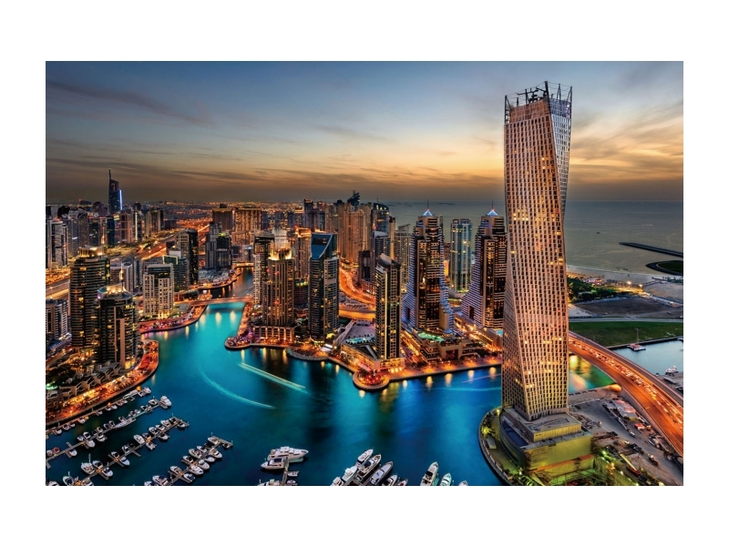 Tablou Sticla Dubai, 120 x 80 cm imagine