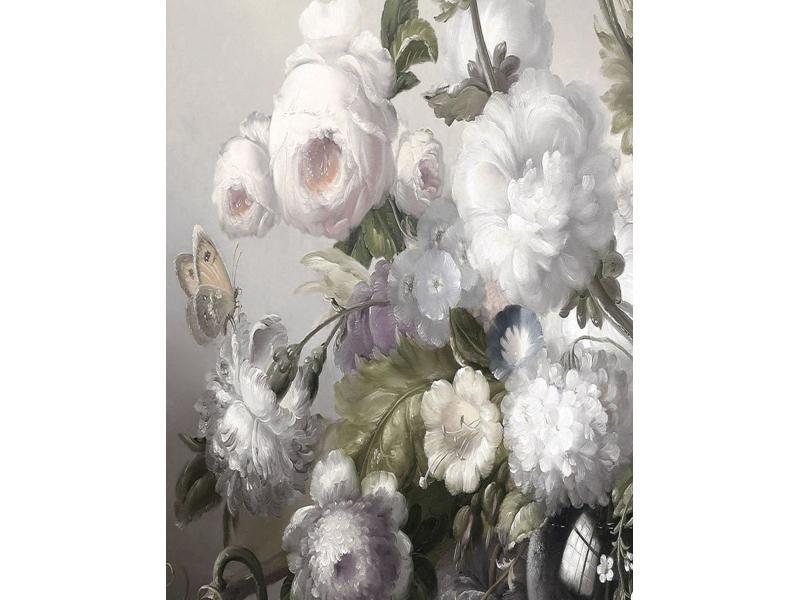 Tablou Sticla Flowers II, 80 x 120 cm poza