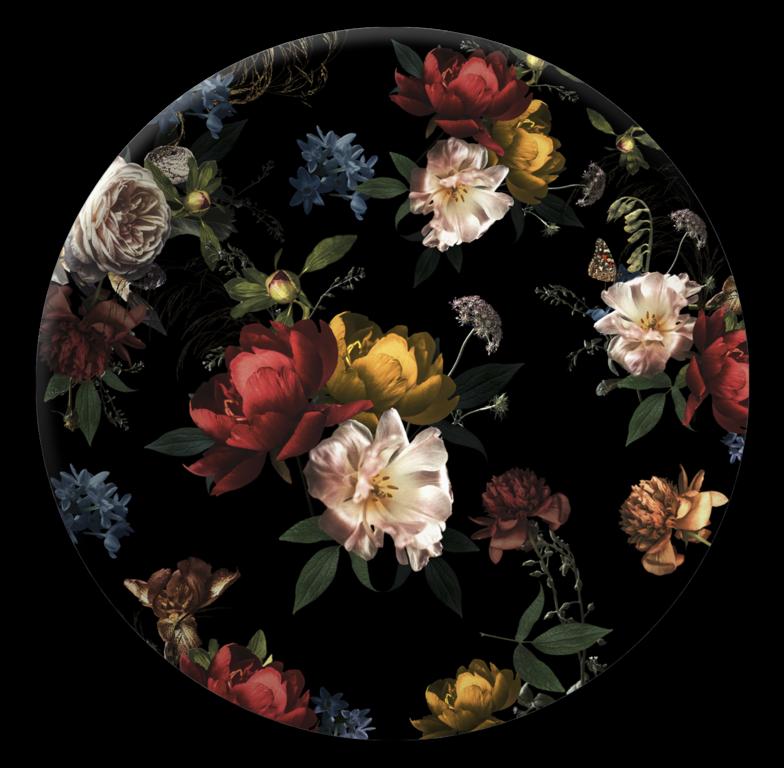 Tablou Sticla Glasspik Ringart GR021 Baroque O70 cm