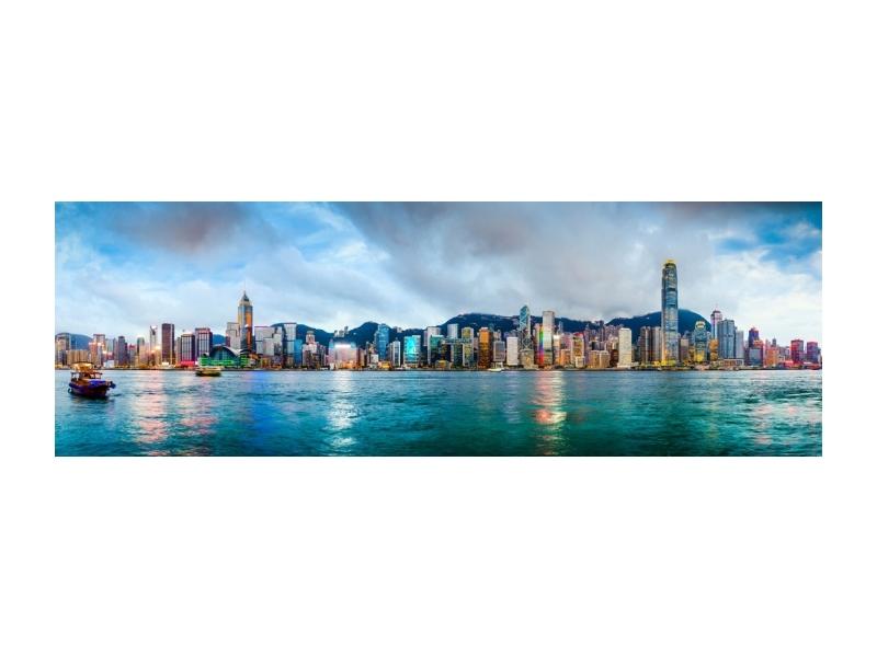 Tablou Sticla Hongkong, 160 x 60 cm imagine