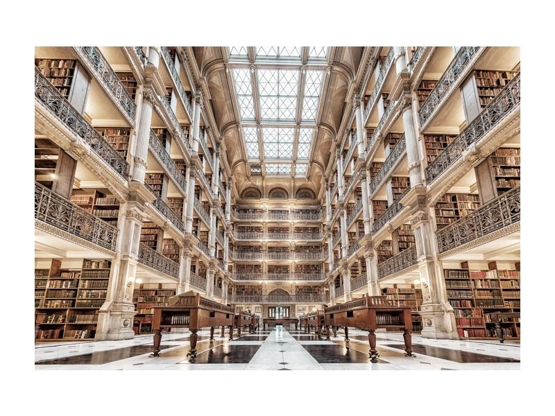 Tablou Sticla Library, 120 x 80 cm