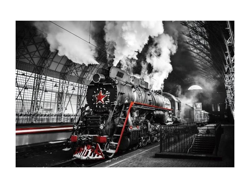 Tablou Sticla Locomotive, 120 x 80 cm imagine