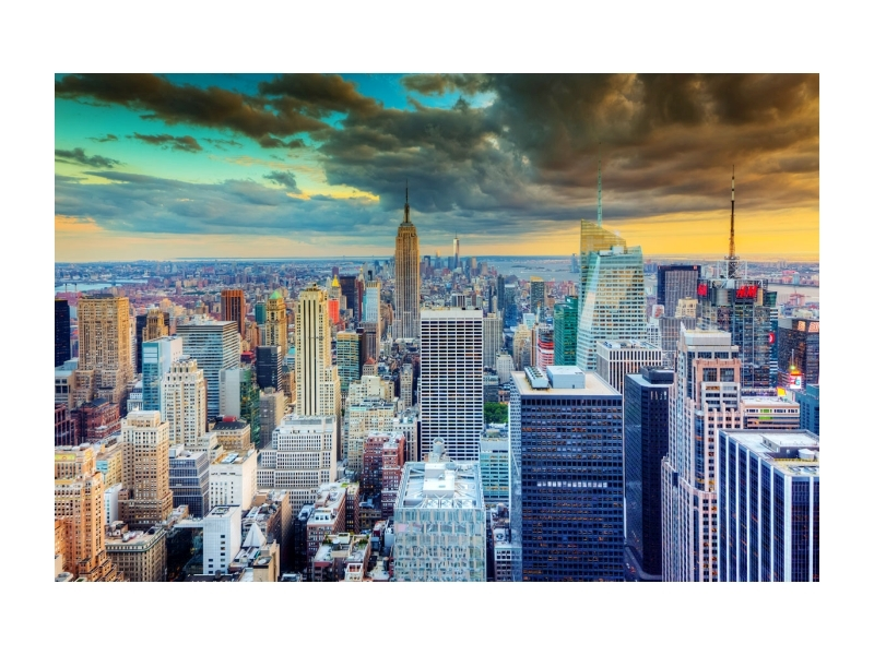 Tablou Sticla New York, 120 x 80 cm imagine