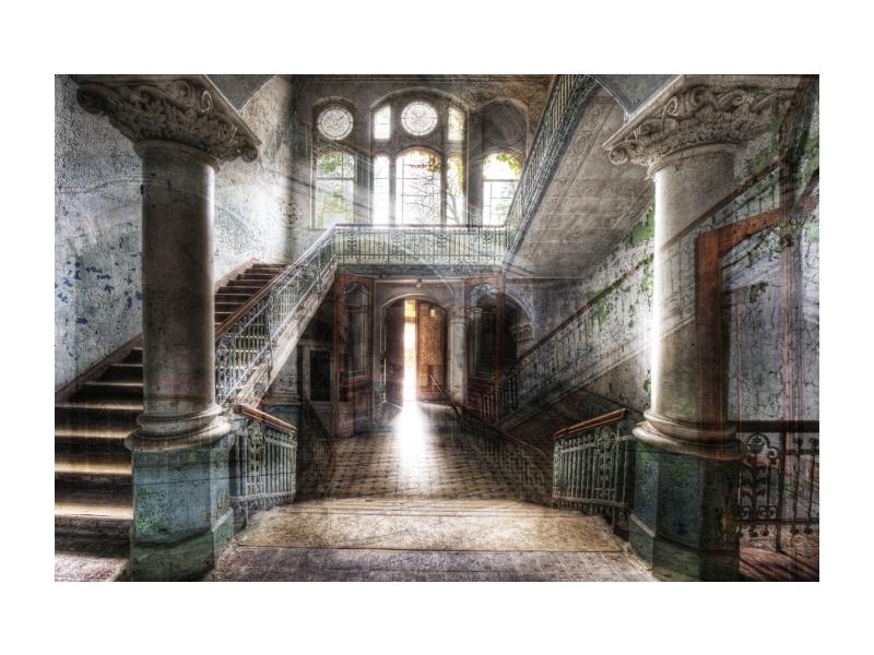 Tablou Sticla Old Hall, 120 x 80 cm