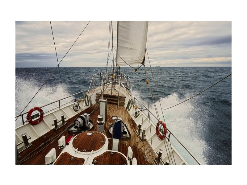 Tablou Sticla Yacht, 120 x 80 cm poza