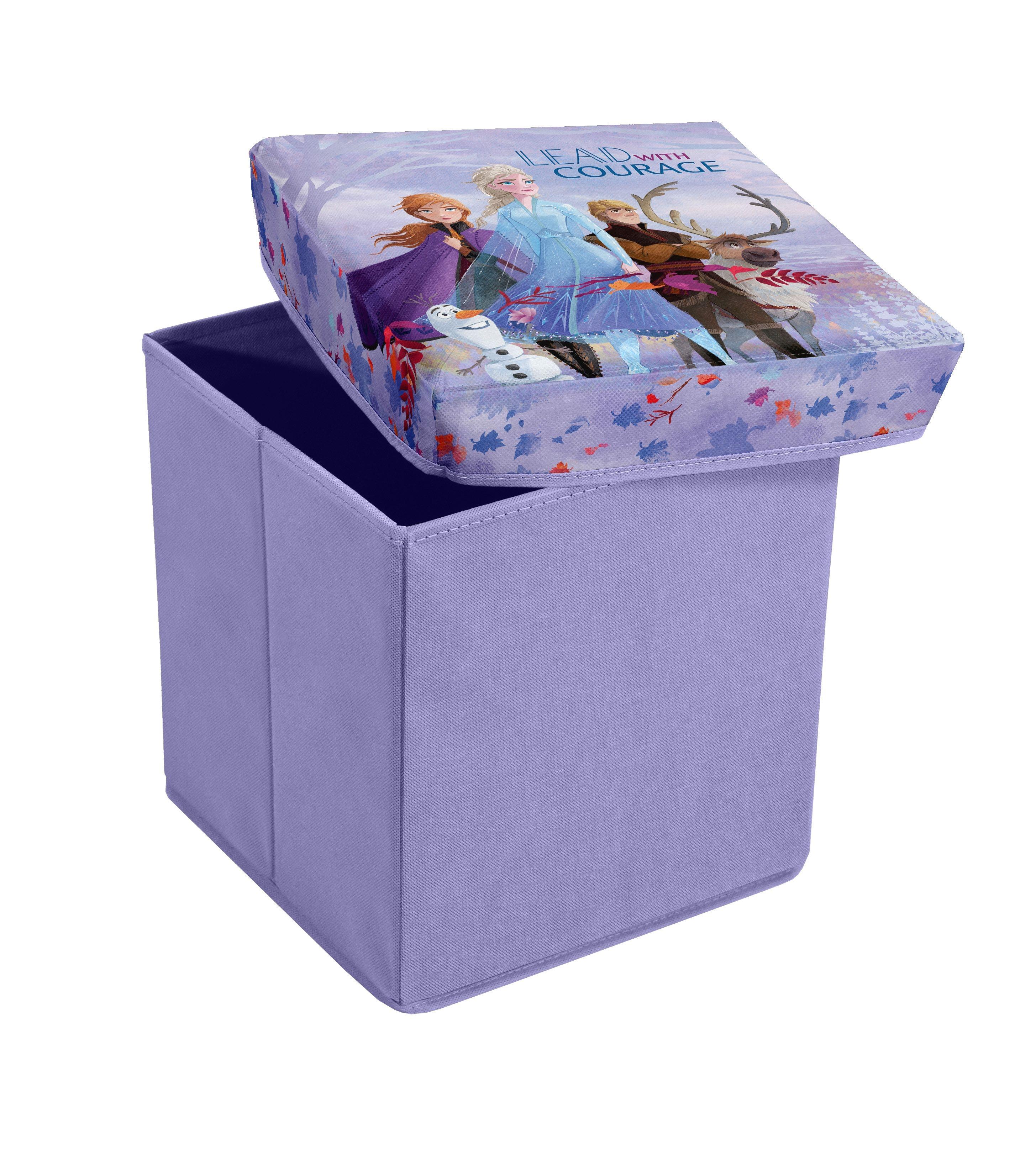 Taburet pentru copii cu spatiu de depozitare, Frozen Violet, l30xA30xH30 cm