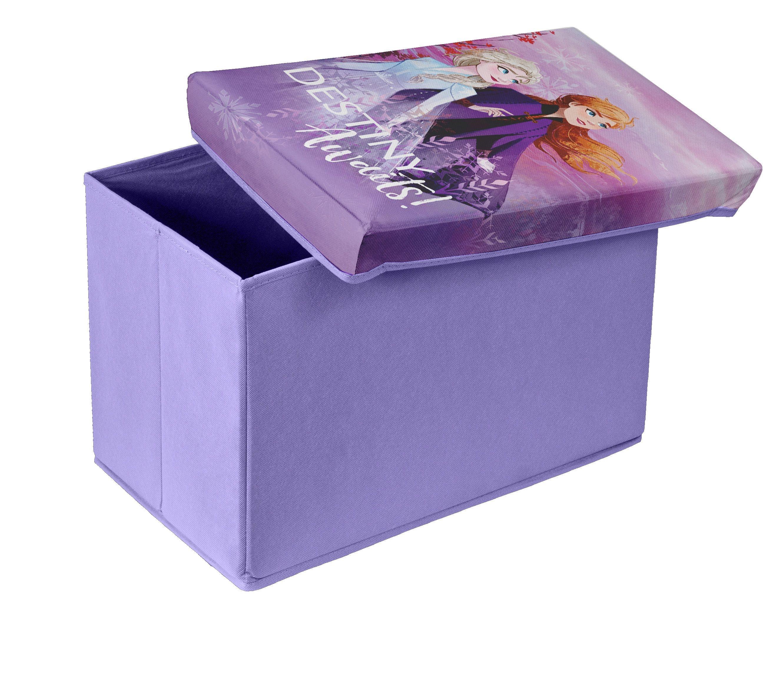 Taburet pentru copii cu spatiu de depozitare, Frozen II Violet, l49xA31xH31 cm
