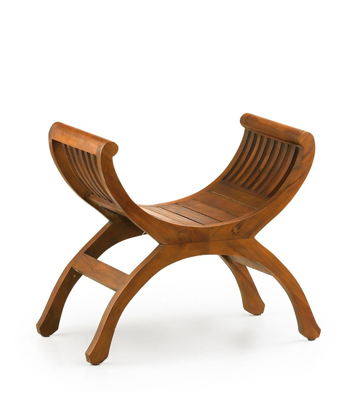Taburet din lemn, Yuyu Nuc, l62xA35xH60 cm imagine