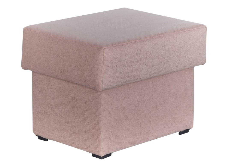 Taburet tapitat cu stofa, Caya Light Pink, l46xA46xH36 cm