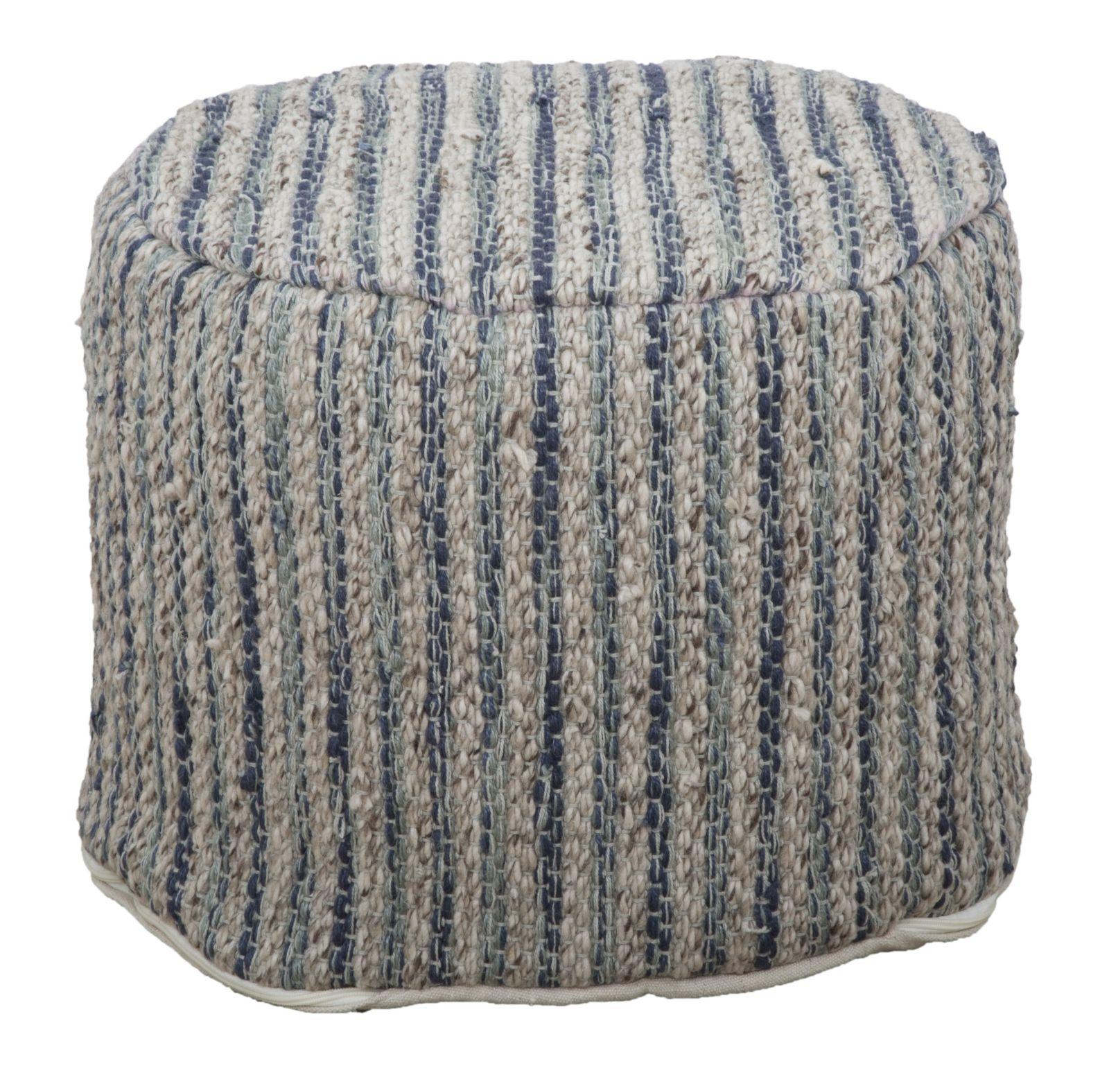 Taburet tapitat cu stofa Peru Round Beige O 50xH40 cm