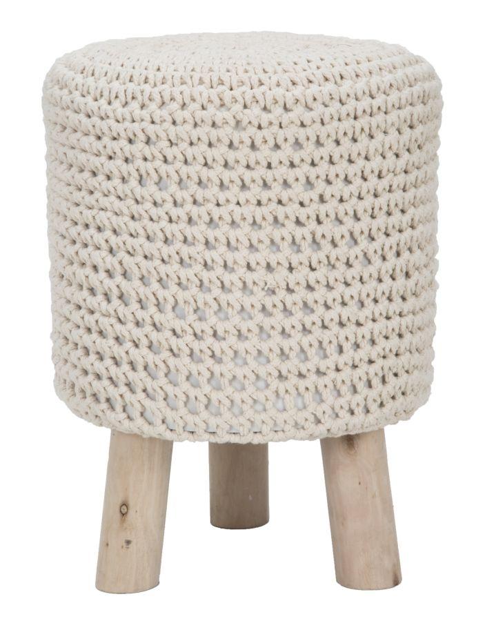 Taburet tapitat cu stofa cu picioare din lemn Oslo High O 32xH41 cm