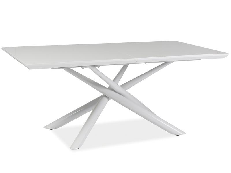 Masa extensibila din metal si MDF Taranto White, L160-200xl90xh76 cm