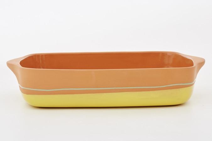 Tava ceramica Yellow Stripe, 32 x 23 cm, Jamie Oliver