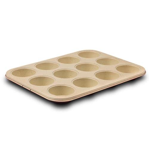 Tava pentru 12 briose cu invelis ceramic antiaderenta, Terrestrial, L35xl26,5xH3 cm imagine