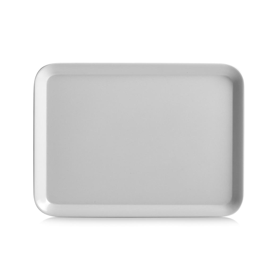 Tava pentru servire Aqua II, Melamina, l24xA18 cm-Gri poza