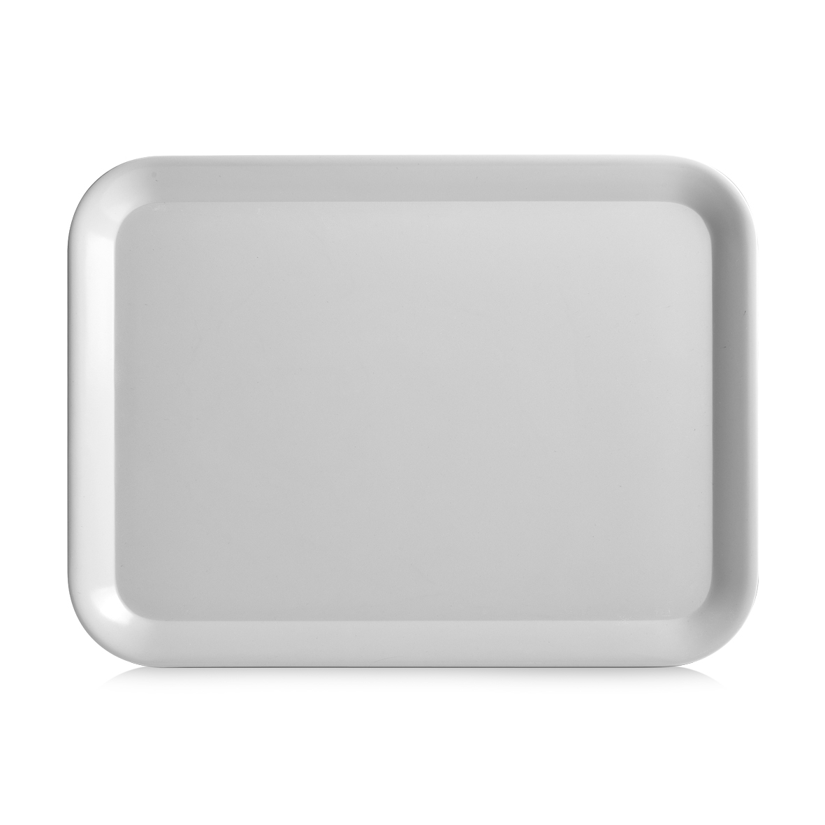 Tava pentru servire Aqua, Melamina, l43,5xA32,5 cm-Gri poza