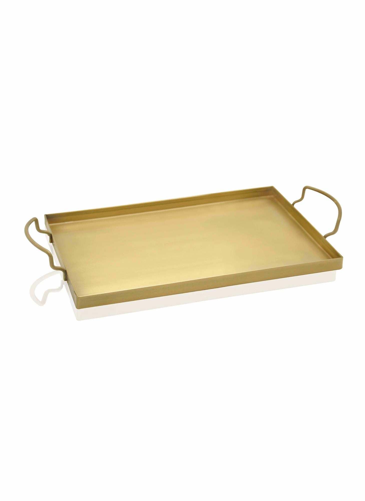 Tava pentru servire din metal, Goldie Large Auriu, L43xl25xH1 cm imagine