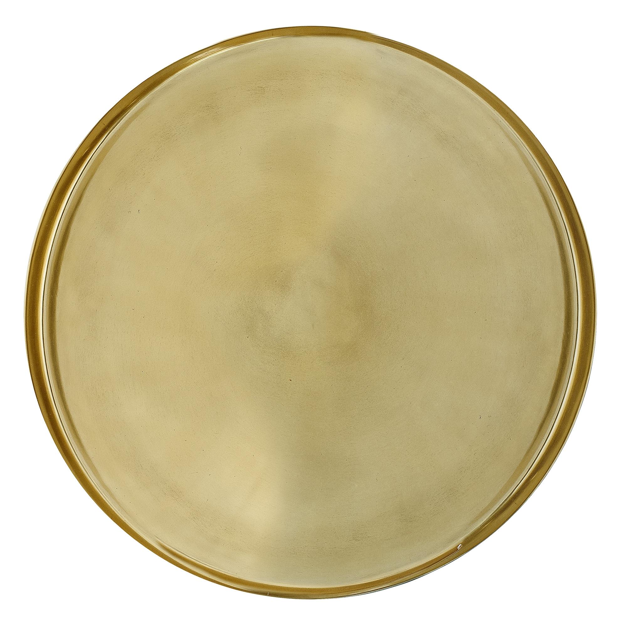 Tava Tray Aluminum Gold O50xh2.5 cm