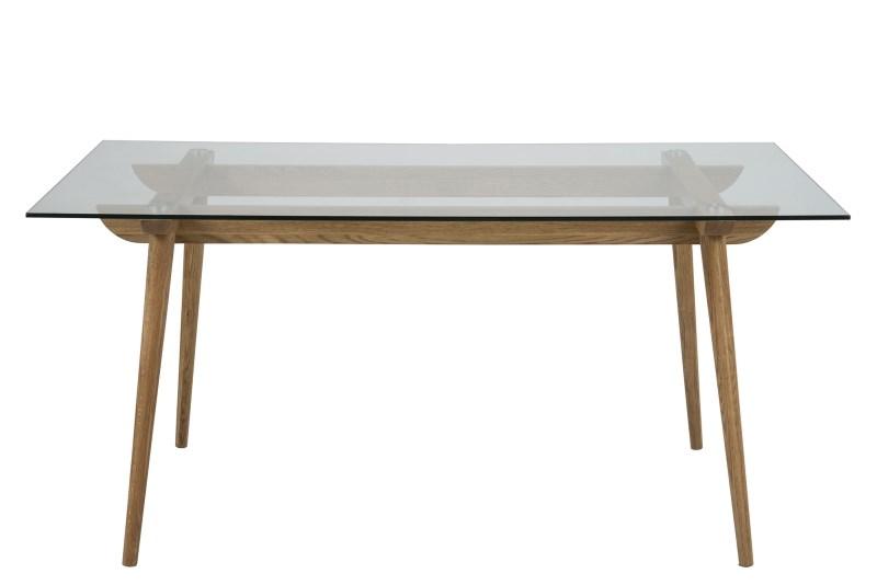 Masa din lemn si sticla Taxi, L160xl90xh75 cm