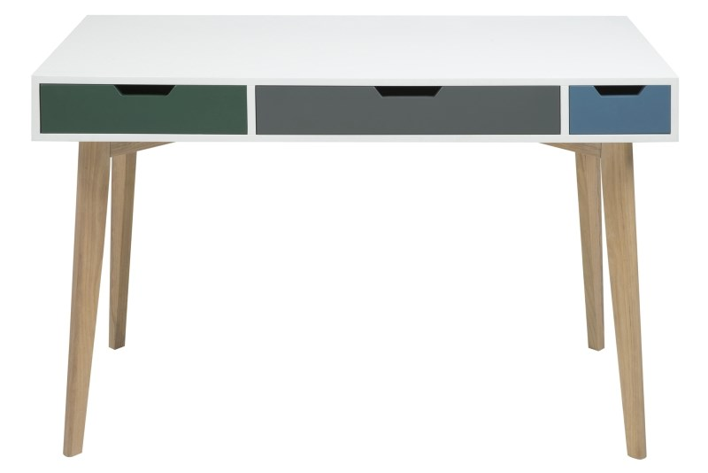 Masa de birou din MDF si lemn Tess, L120xl60xh76 cm