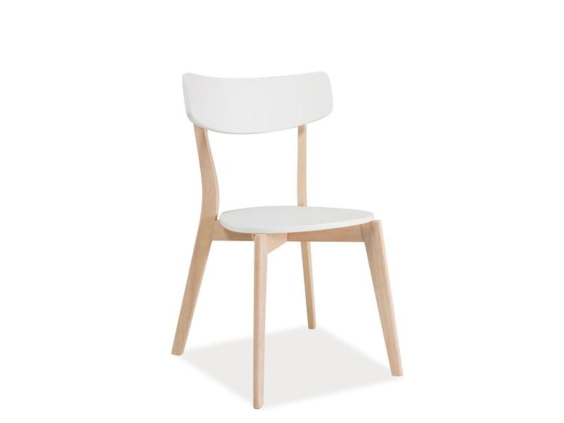 Scaun din lemn si MDF Tibi White