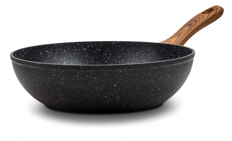 Tigaie wok cu invelis din piatra 28 cm, Nature imagine