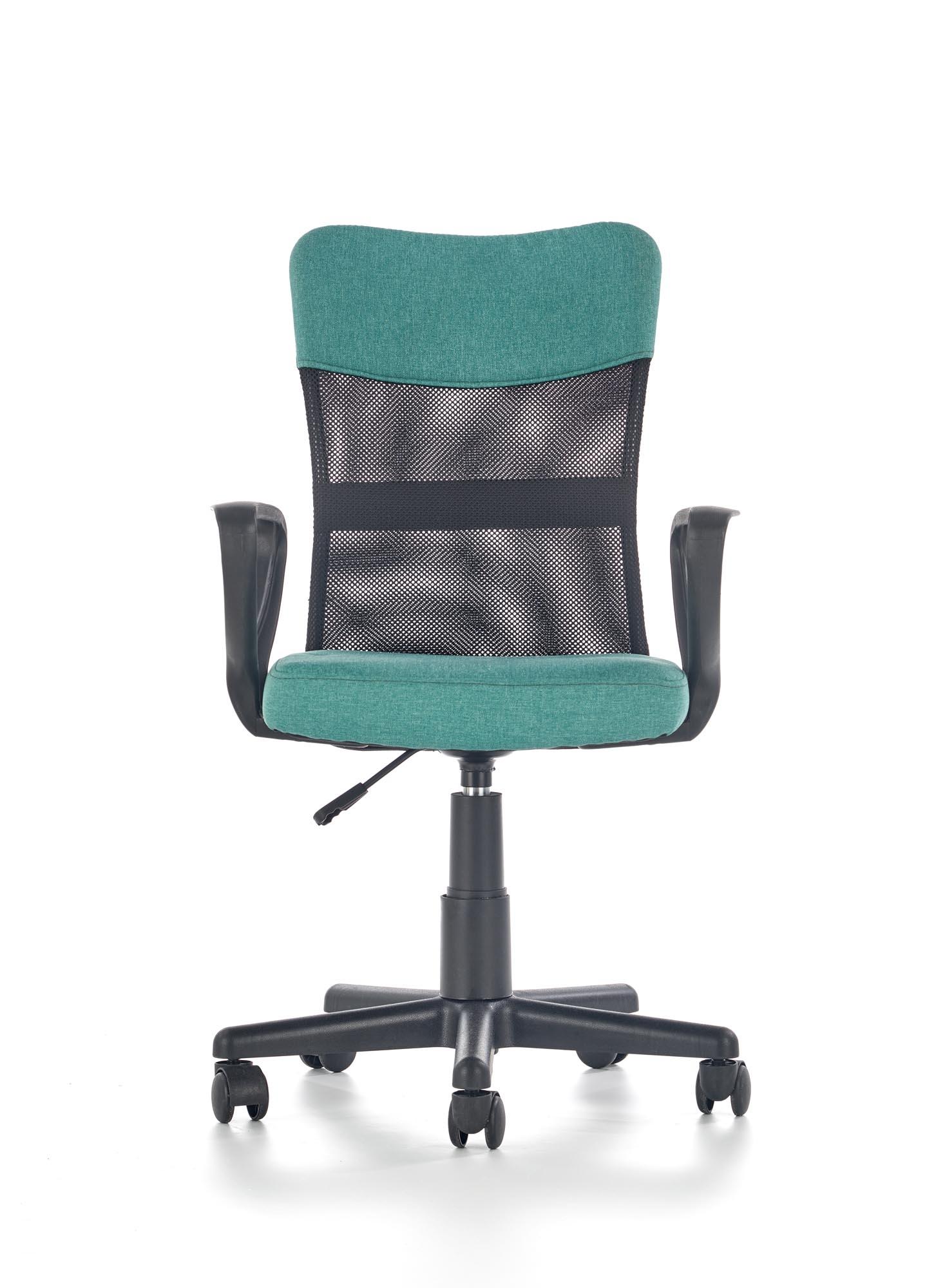 Scaun de birou pentru copii Timmy Turquoise / Black, l52xA59xH81-91 cm imagine
