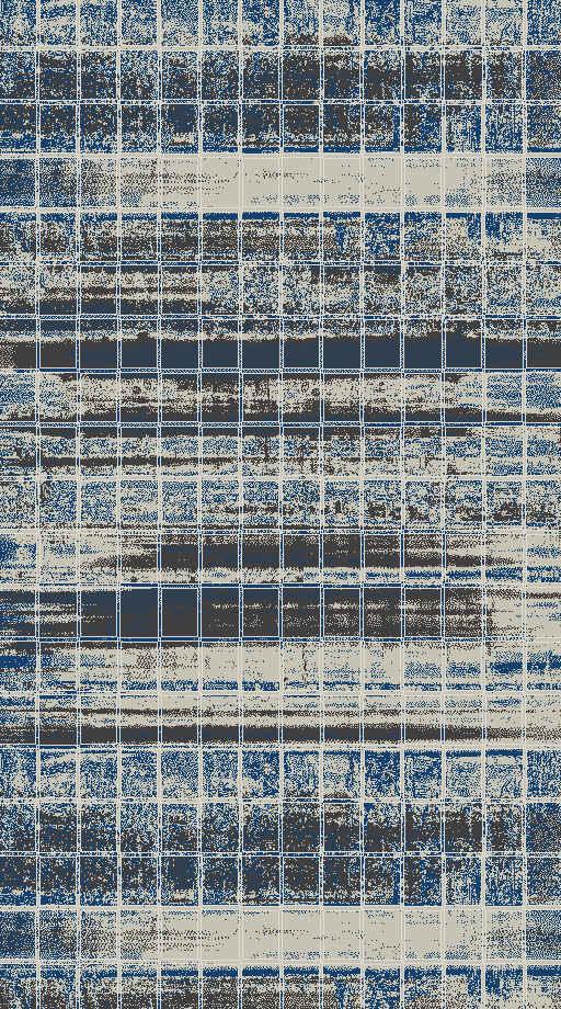 Covor Tivoli Tiv-006E Blue, Tesut mecanic
